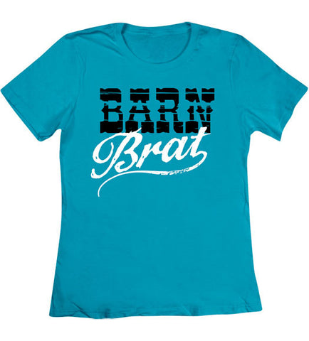 Caribbean Blue - Women's Barn Brat T-Shirt