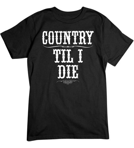 Black - Men's Country Til I Die T-Shirt