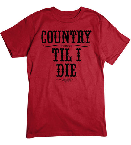 Red - Men's Country Til I Die Tee Shirt