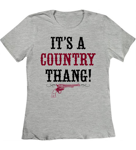 Heather Grey - Women's Country Thang T-Shirt