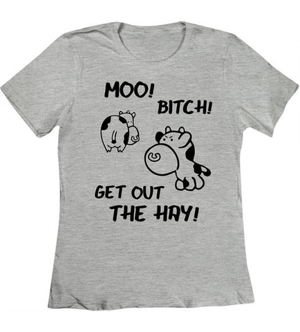 Heather Grey - Women's Get Out the Hay Tee Shirt