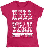 Antique Heliconia - Juniors Hell Yeah Country Tough T-Shirt