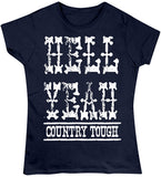 Navy - Juniors Hell Yeah Country Tough T-Shirt