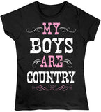 Black - Juniors Boys are Country T-Shirt