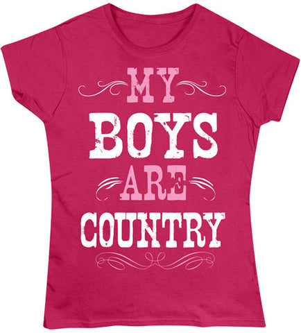 Antique Heliconia - Juniors Boys are Country T-Shirt
