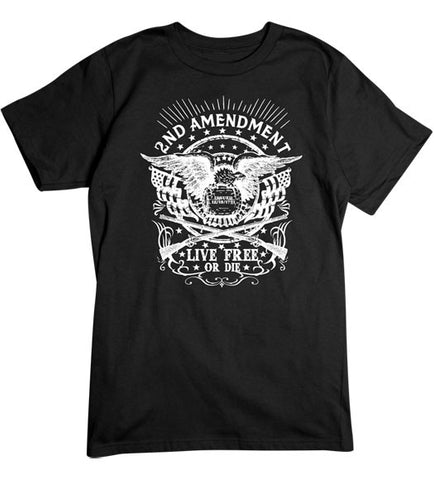 Black - Men's Live Free or Die Tee