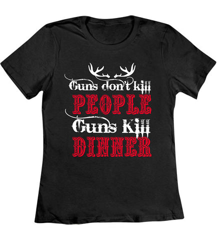 Black - Women's Guns Kill Dinner 2 T-Shirt