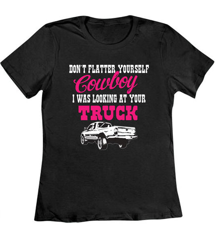 Black - Women's Looking at Your Truck T-Shirt