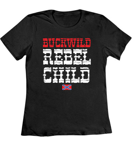Black - Women's Rebel Child T-Shirt