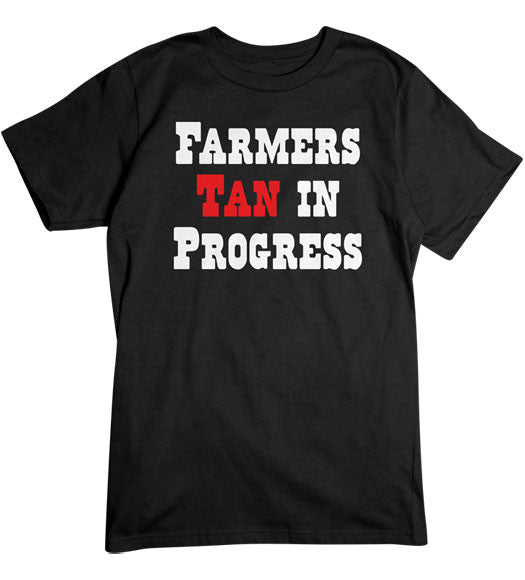 Black - Men's Farmers Tan Basic T-Shirt