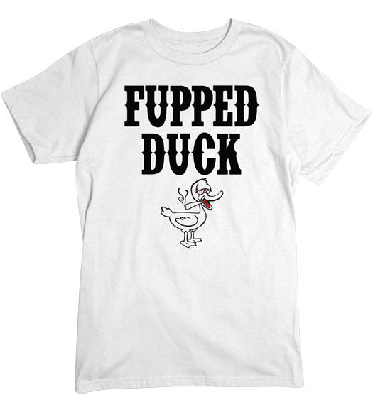 White - Men's Fupped Duck Basic T-Shirt