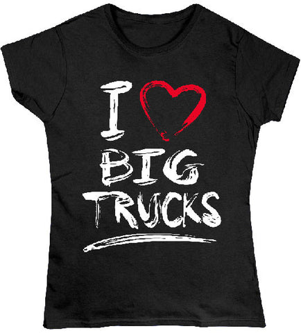 Black - Juniors Big Trucks 2 T-Shirt