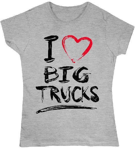 Sport Grey - Juniors Big Trucks T-Shirt