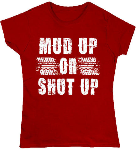 Red - Juniors Mud Up T-Shirt