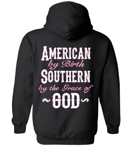 Black - Women's By the Grace of God Hoodie
