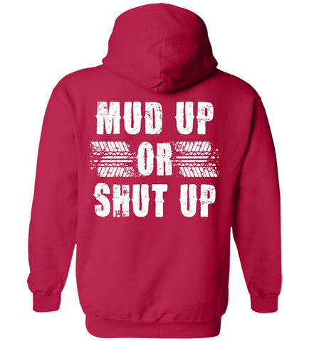 Cherry Red - Men's Mud Up Hoodie