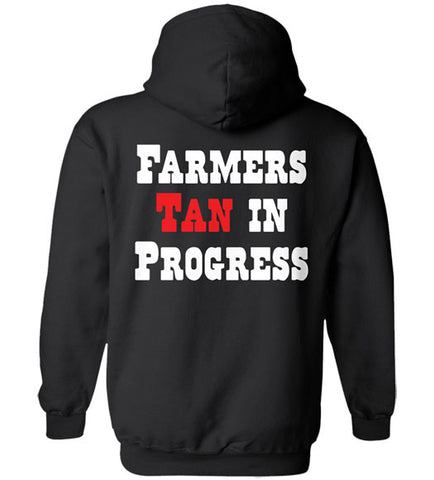 Black - Men's Farmers Tan Hoodie