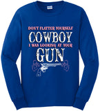 Royal - Women's Looking at Your Gun Long Sleeve Tee