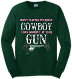 Forest Green - Women's Looking at Your Gun Long Sleeve Tee