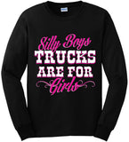 Black - Women's Trucks are for Girls Long Sleeve Tee