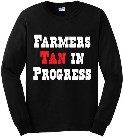 Black - Men's Farmers Tan Long Sleeve Tee