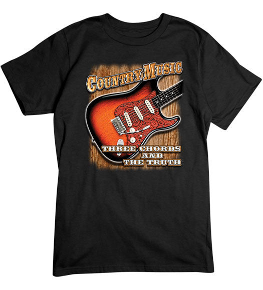 Black - Men's Country Music T-Shirt