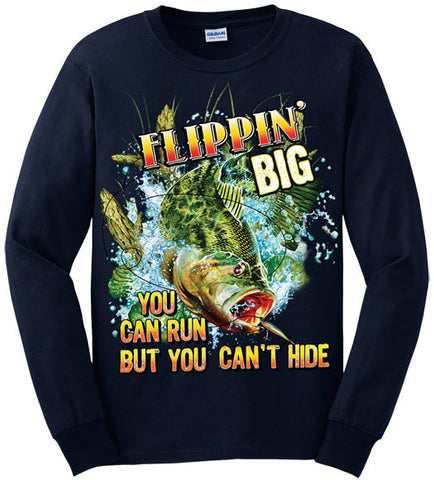 Navy - Men's Flippin' Big Long Sleeve Tee
