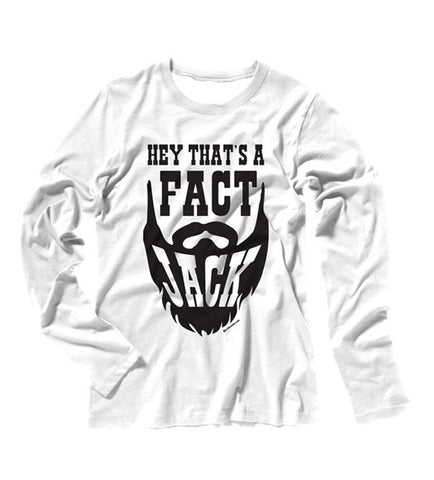 White - Juniors That's a Fact Long Sleeve Tee