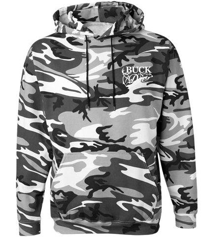 BND - Men's Mud Up Gray Camo Hoodie