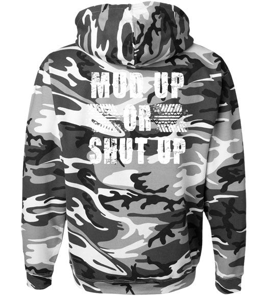 Urban Camo - Men's Mud Up Gray Camo Hoodie