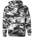 BND - Men's Slaying Ducks Gray Camo Hoodie