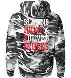 Urban Camo - Men's Slaying Ducks Gray Camo Hoodie
