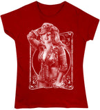 Red - Juniors Retro Hollywood Cowgirl T-Shirt