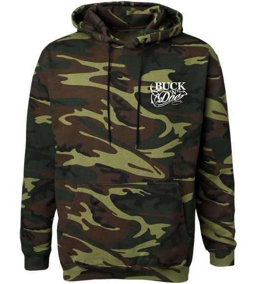 BND - Men's Mud Up Green Camo Hoodie