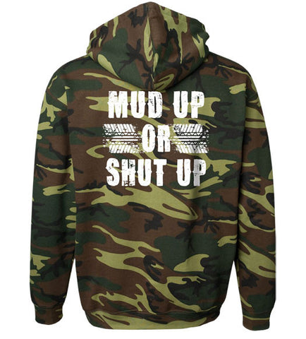 Green Camo - Men's Mud Up Green Camo Hoodie
