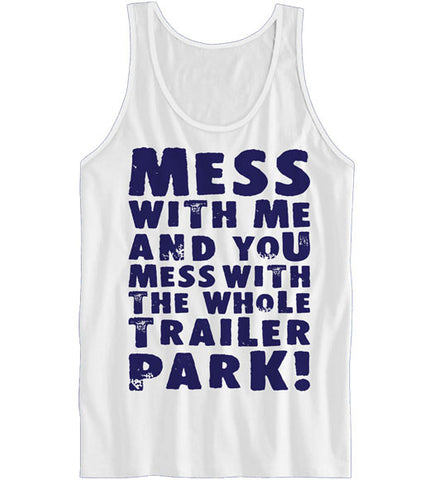 White - Women's The Whole Trailer Park Tank Top