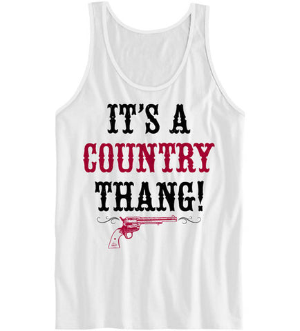 White - Women's Country Thang Tank Top