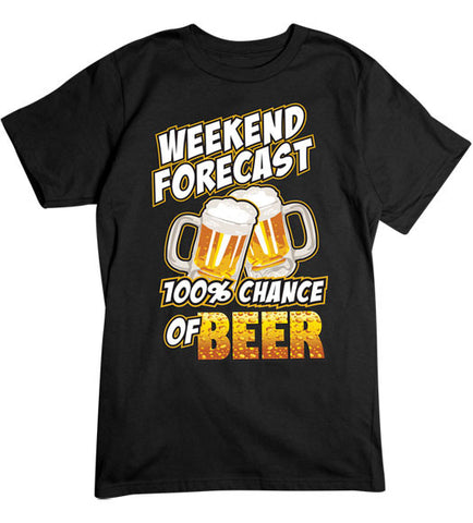 Black - Men's 100% Chance of Beer T-Shirt
