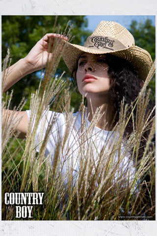 "Country Boy® - Cowgirl Hat & Field 18"" x 24"" Poster"