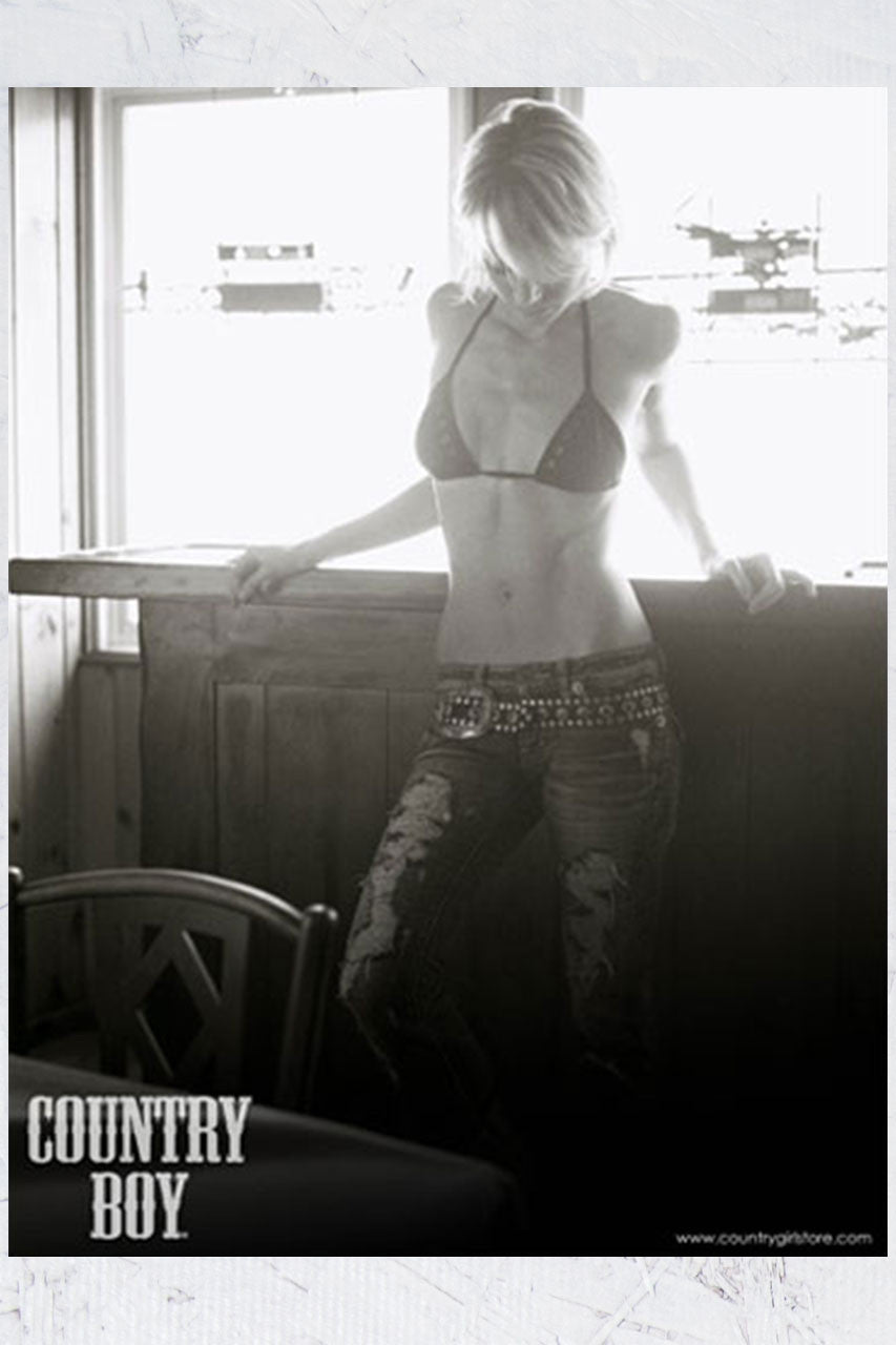 "Country Boy® - Cowgirl in Window 18"" x 24"" Poster"