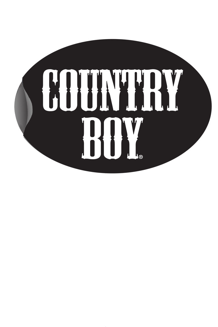 "Country Boy® - Logo 6"" x 4"" Oval Bumper Sticker"