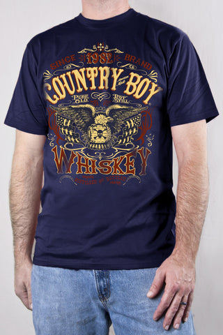 Navy - Men's Whiskey Short Sleeve Tee