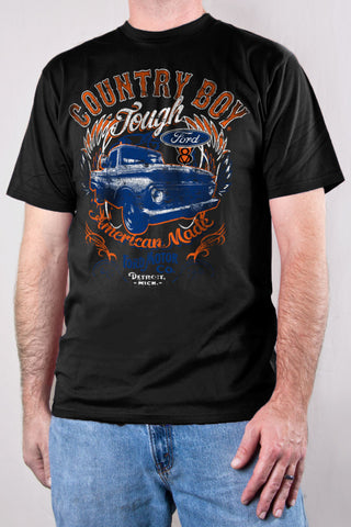 Black - Men's Ford Tough Short Sleeve Tee