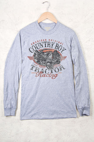 Ash - Men's Tractor Racing Long Sleeve Tee