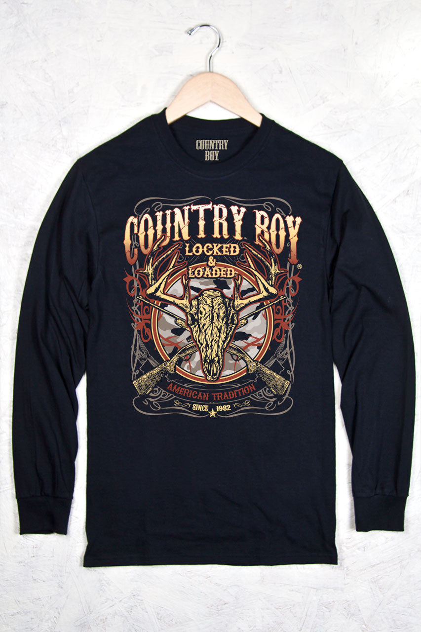 Black - Men's Locked and Loaded Long Sleeve Tee