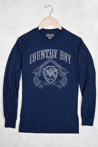 Navy - Men's Pistols Long Sleeve Tee