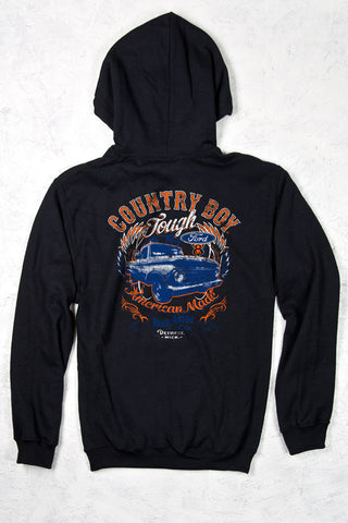 Black - Men's Ford Tough Pullover Hoodie