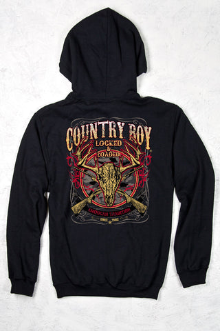 Black - Men's Locked and Loaded Pullover Hoodie
