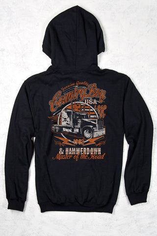 Black - Men's Master of the Road Pullover Hoodie