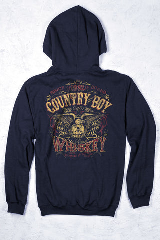 Navy - Men's Whiskey Pullover Hoodie